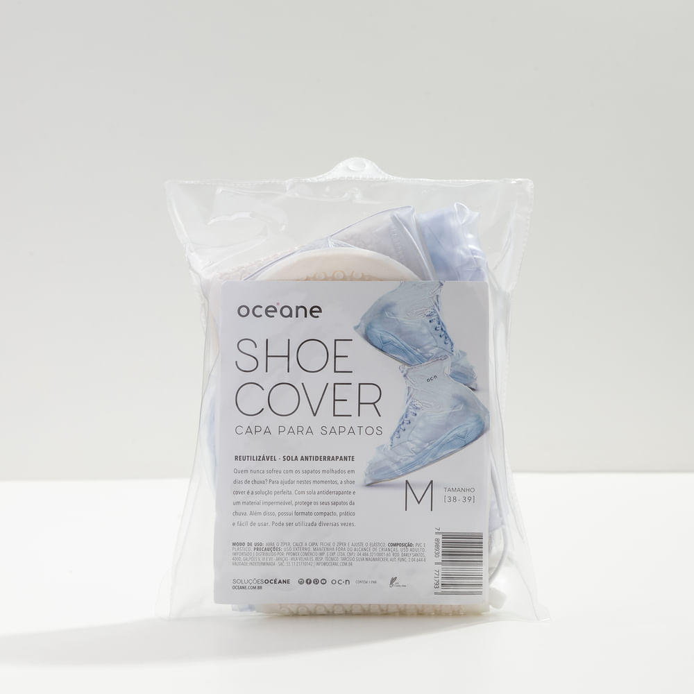 Capa P/ Sapatos Transparentes Tamanho M - Shoe Cover