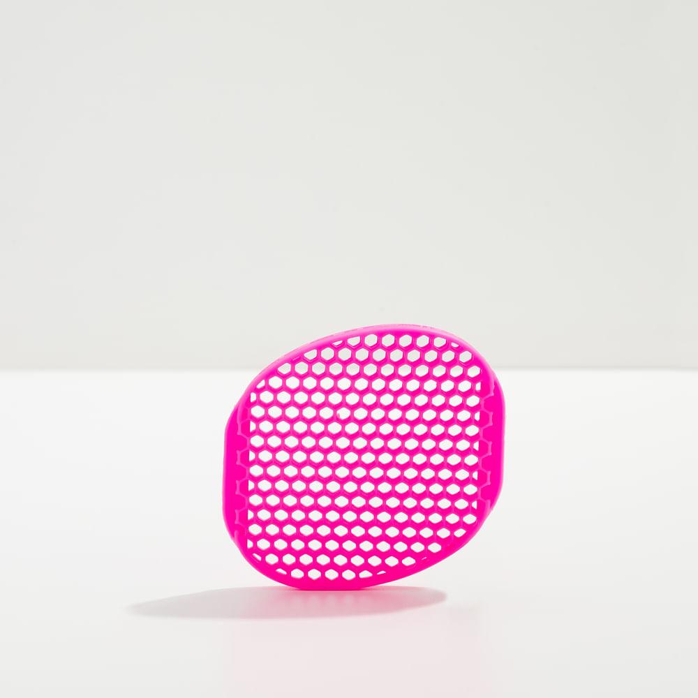 Esponja de Silicone P/ Limpeza de Pele Rosa - Body Silicone Sponge