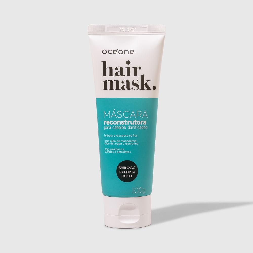Máscara Capilar Reconstrutora P/ Cabelos Danificados Bisnaga - Hair Mask 100ml