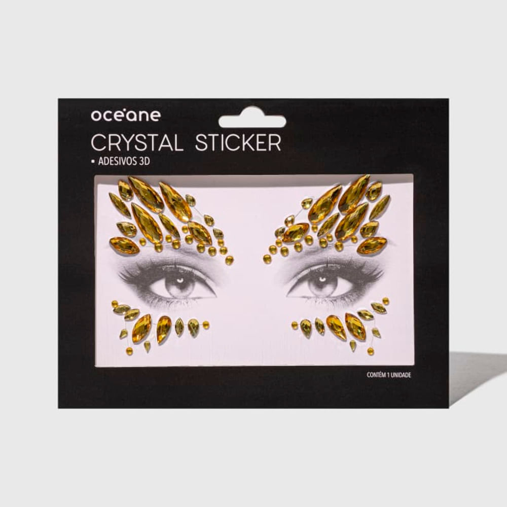 Adesivo Facial 3d - Crystal Sticker Cs6