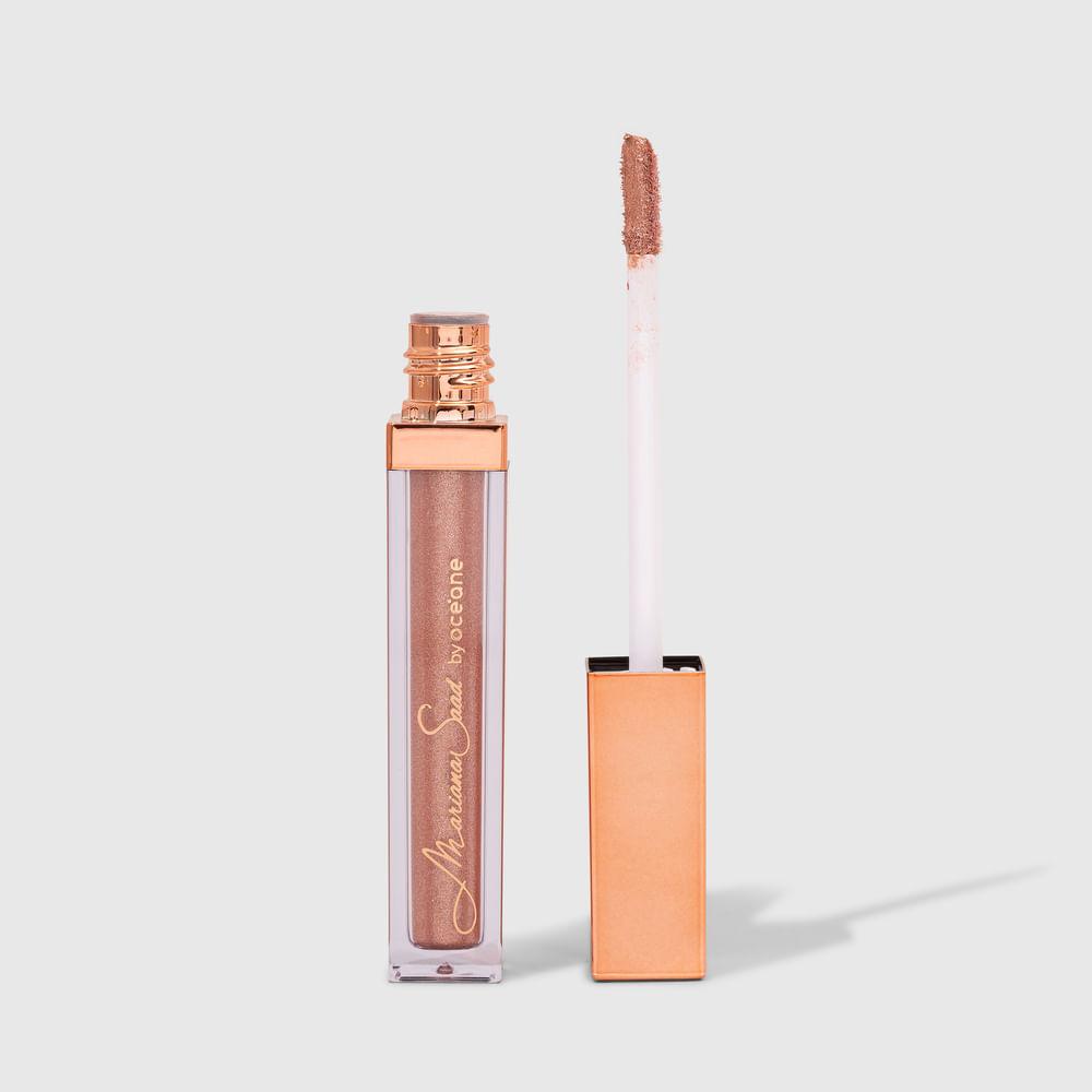 Sombra Líquida Pêssego Mariana Saad - Shine & Glow Liquid Eyeshadow Soft Peach 4,2g