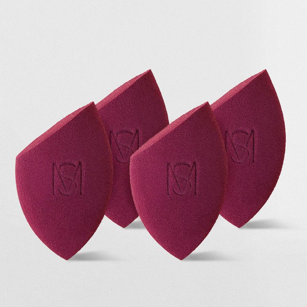 Kit Esponja de Maquiagem Flat Blend Mariana Saad by Océane  (4 produtos)