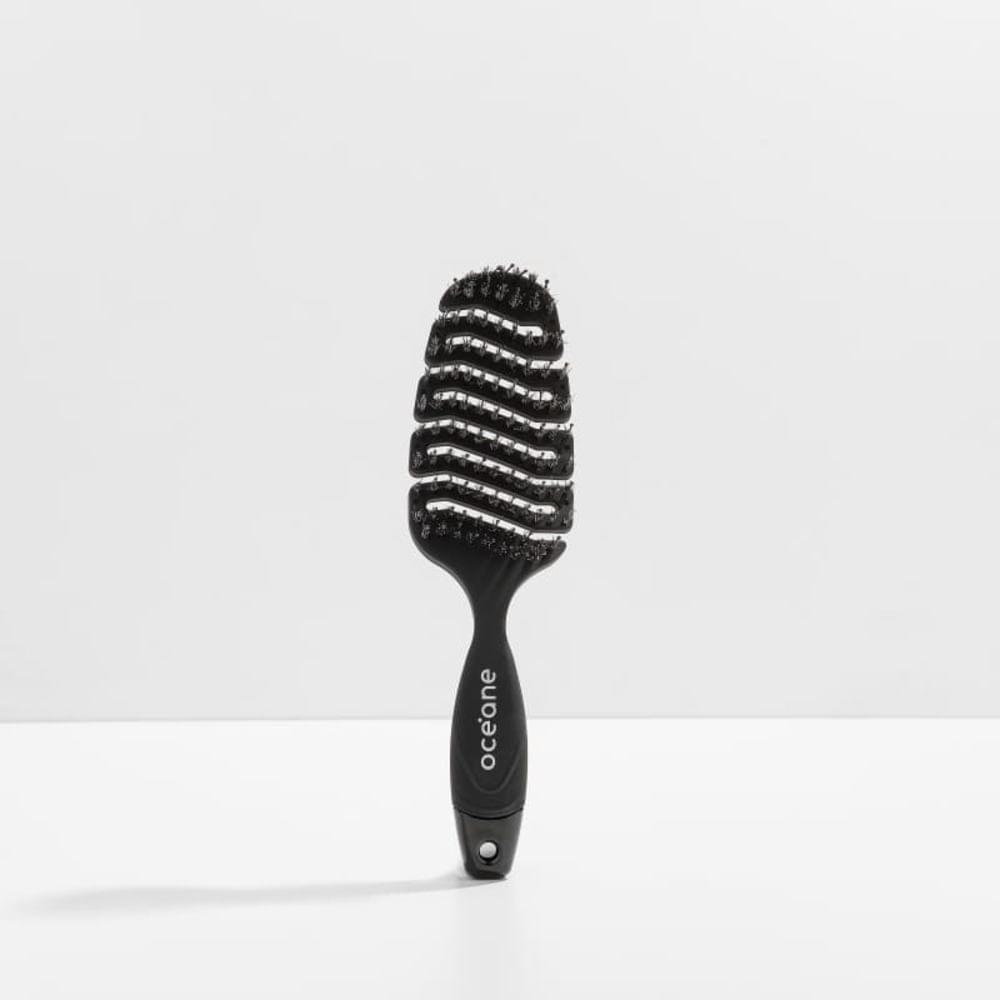 Escova de Cabelo Ventilada Preta - Soft Brush