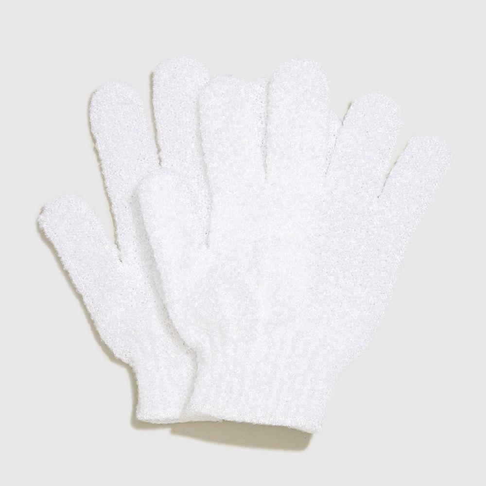 Luvas Esfoliantes Branca - Exfoliating Gloves 1 Par
