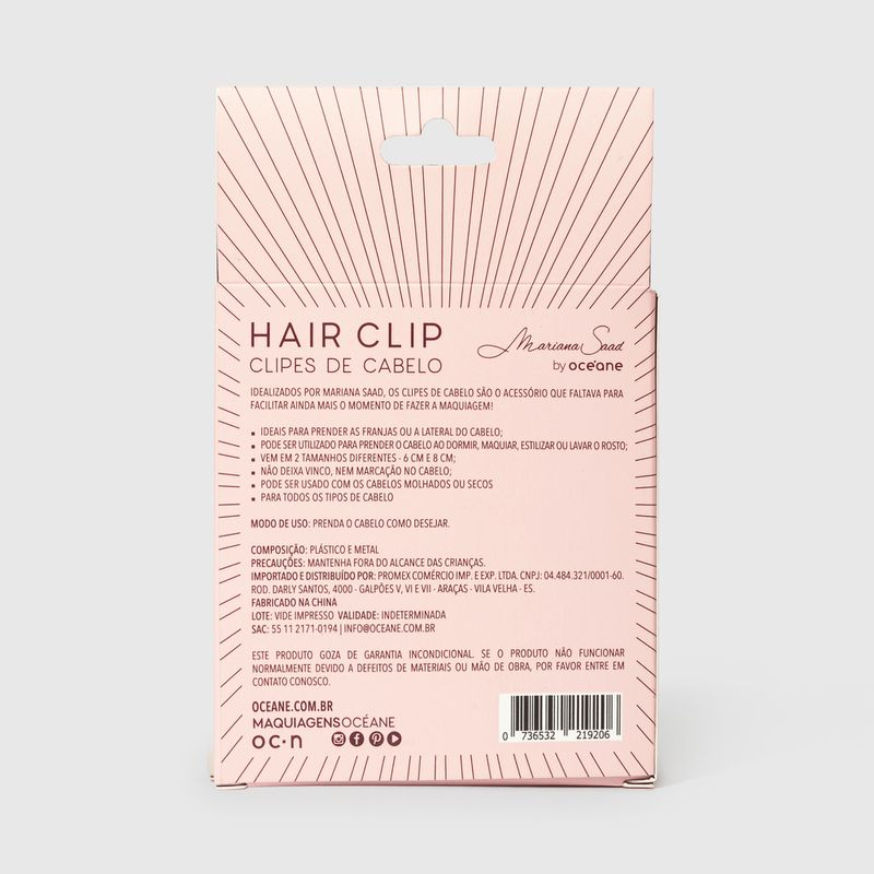 embalagem fechada clipes de cabelo marsala mariana saad by ocenae verso