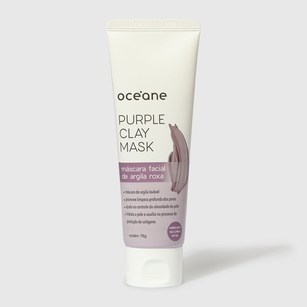 Máscara Facial Bisnaga de Argila Roxa - Purple Clay Mask 75g