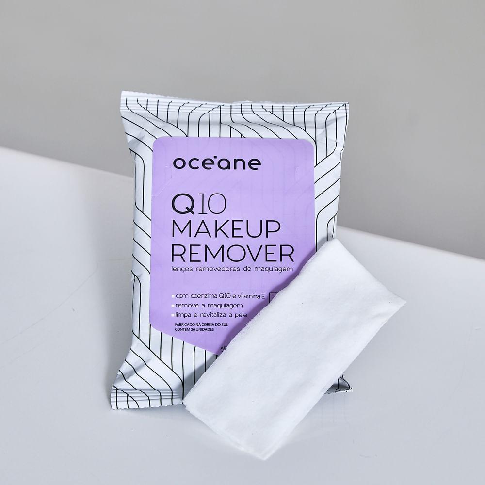 Lenços Demaquilantes C/ Q10 e Vitamina e - Q10 Makeup Remover 20un