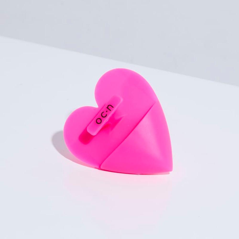 Esponja de Silicone P/ Limpeza Rosa Facial Heart Sponge