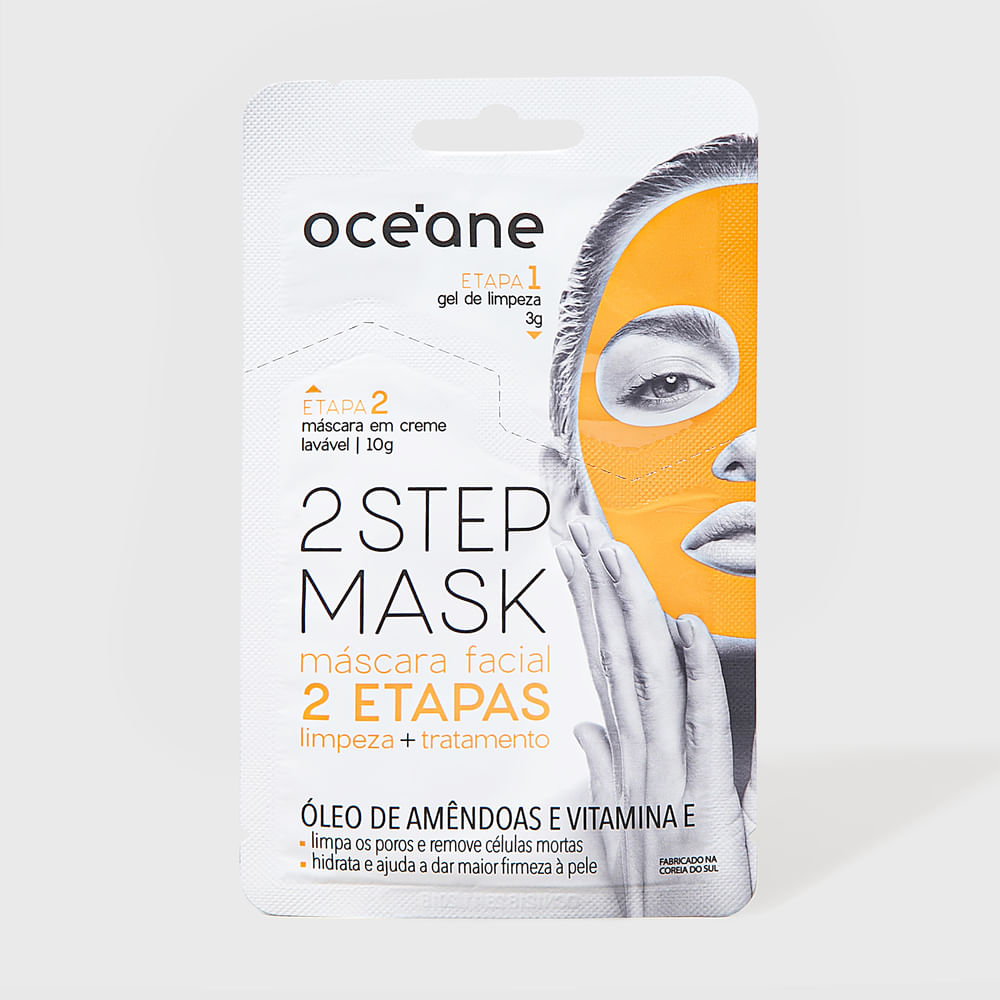 Máscara Facial 2 Etapas de Óleo de Amêndoas e Vitamina e - Dual Step Mask 13g
