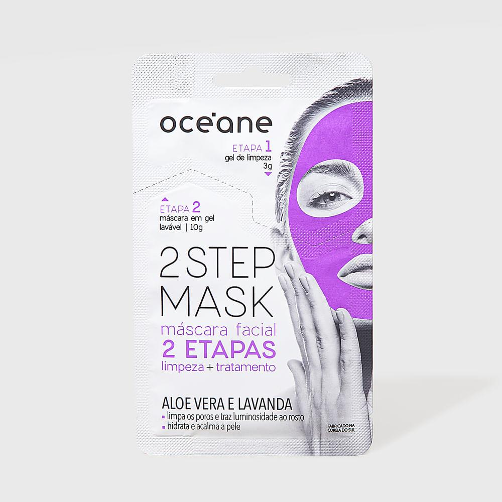 Máscara Facial 2 Etapas de Aloe Vera e Lavanda - Dual Step Mask 13g