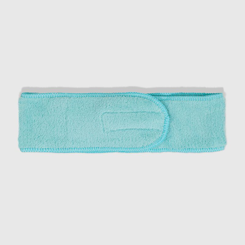Faixa de Cabelo Azul Headband aberta verso