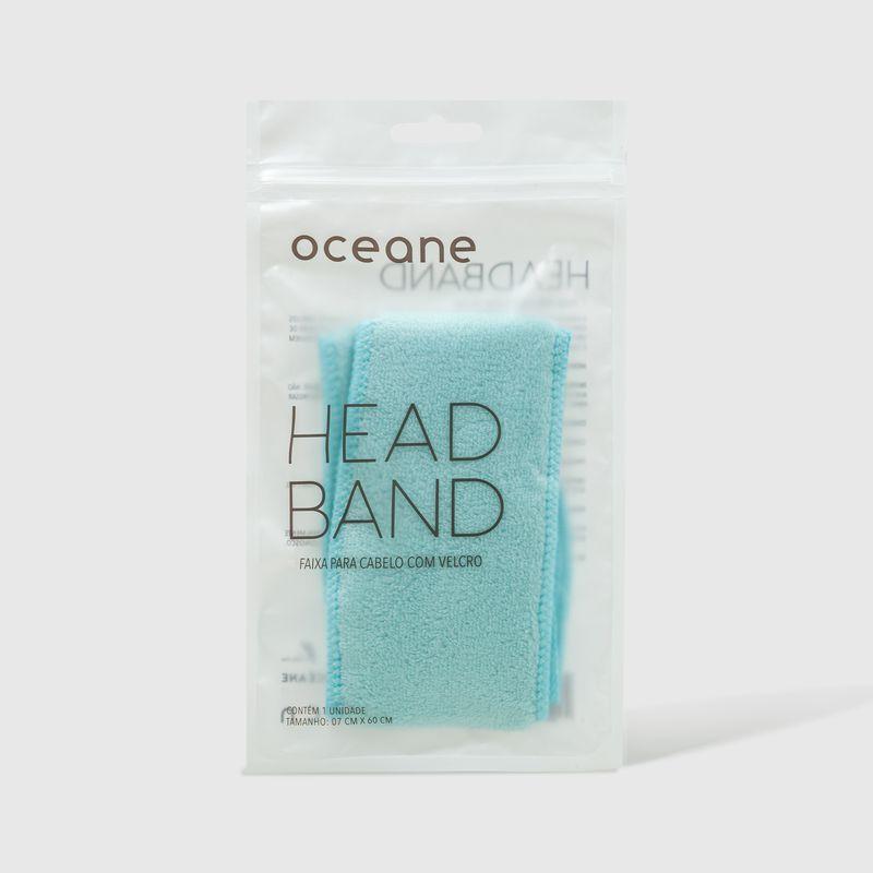 Embalagem Faixa de Cabelo Azul Headband fechada frente