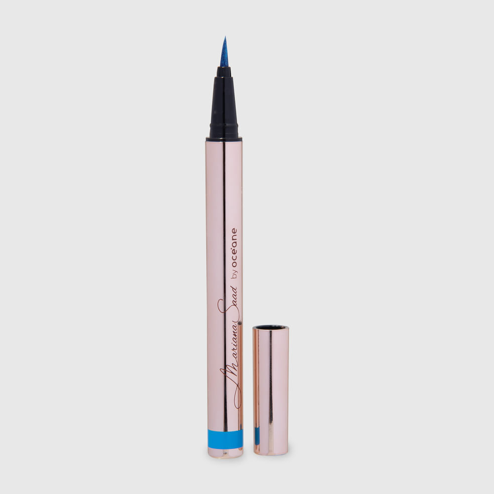 Caneta Delineadora de Olhos Azul Mariana Saad By Océane - Eyeliner Real Blue Gold 1,8g