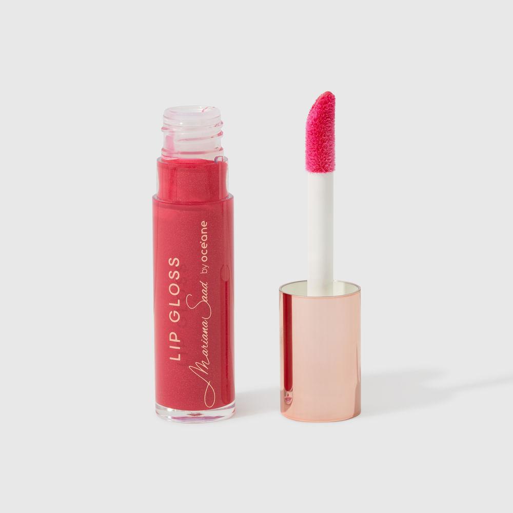 Brilho Labial Vermelho Mariana Saad By Océane - Lip Glossy Berry Pink 6,3g