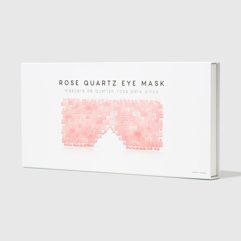 Embalagem Máscara de Quartzo Rosa Rose Quartz Eye Mask fechada lateral