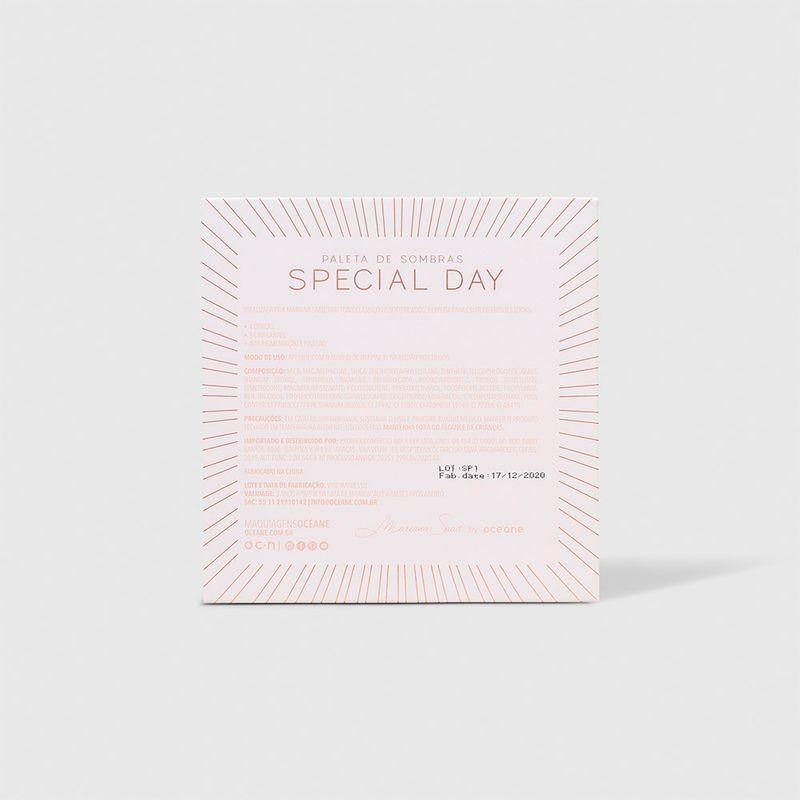 Paleta de Sombras Mariana Saad by Océane Special Day embalagem fechada verso