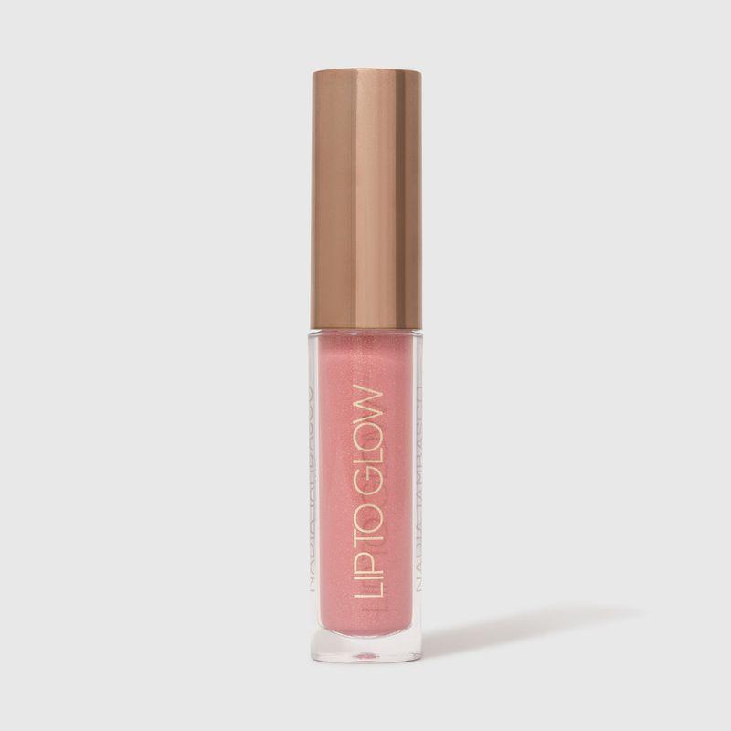 brilho labial nádia tambasco obsession na cor rosa cintilante com embalagem fechada