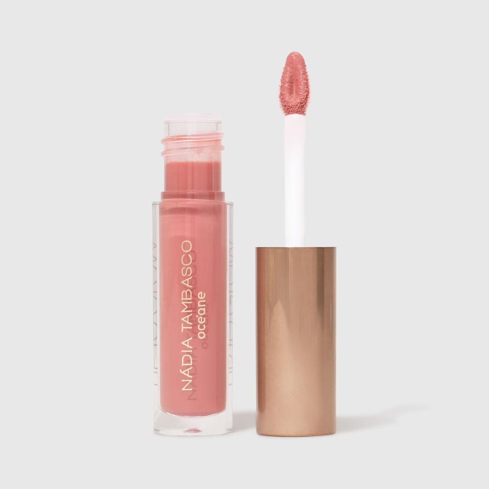 Brilho Labial Rosa Nádia Tambasco by Océane - Lip To Glow Luxe 1,8g
