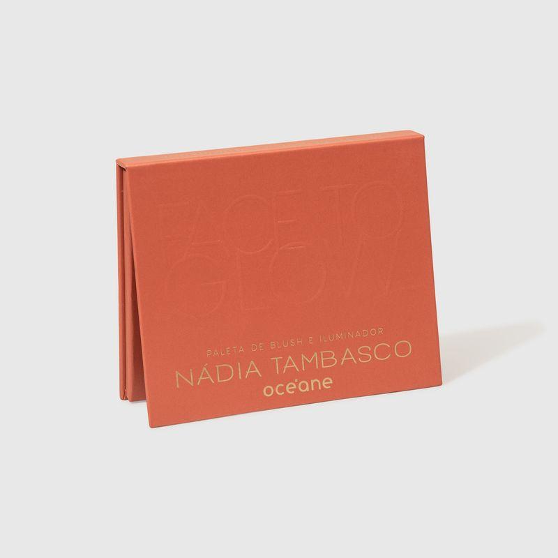 Paleta de Blush e Iluminador Nádia Tambasco  by Océane Face To Glow fechada lateral
