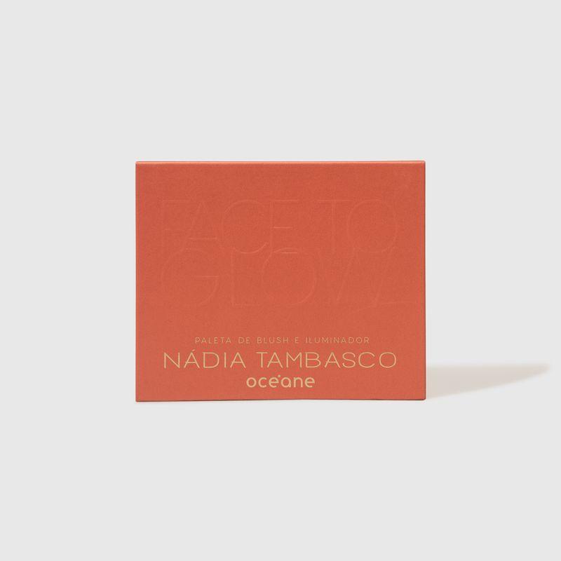 Paleta de Blush e Iluminador Nádia Tambasco  by Océane Face To Glow fechada frente
