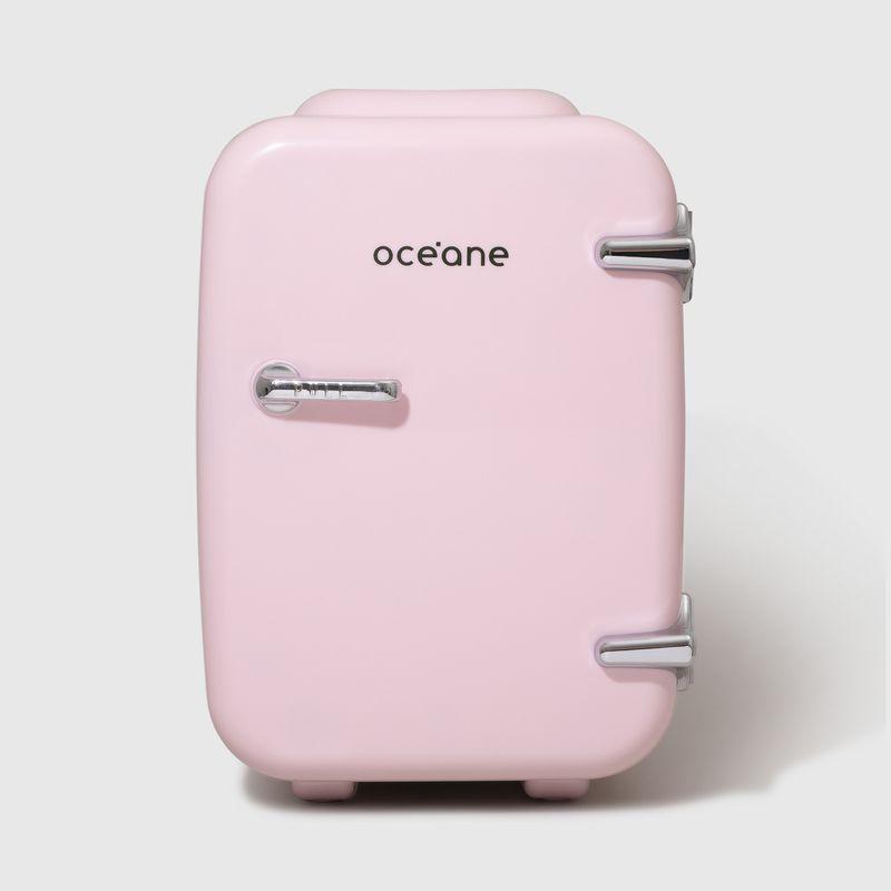 Mini Geladeira Rosa Skincare Fridge 4l  fechada frente