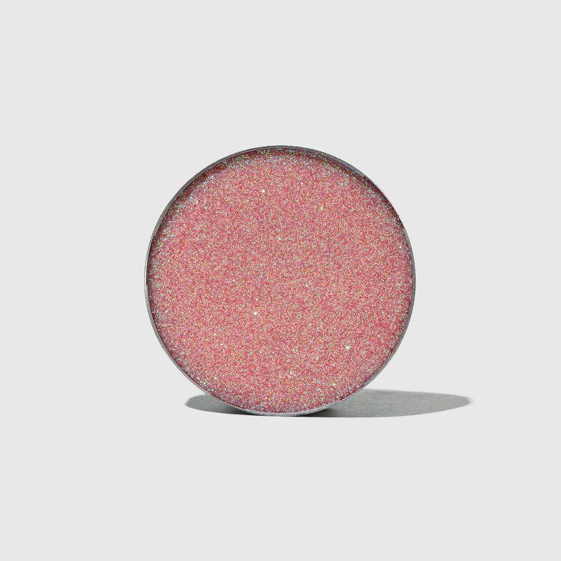 Sombra unitaria Para Olhos Glitter Series Glow Pink aberta frente