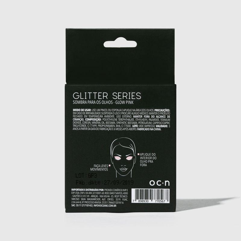 Sombra unitaria Para Olhos Glitter Series Glow Pink  embalagem fechada  verso