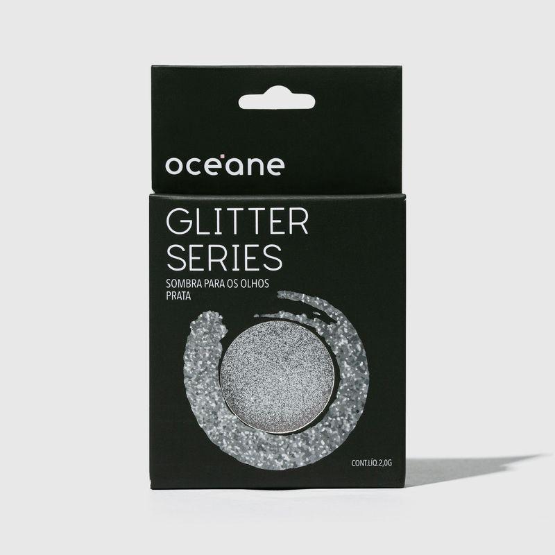 Sombra unitária Para Olhos Glitter Series Prata embalagem fechada  frente