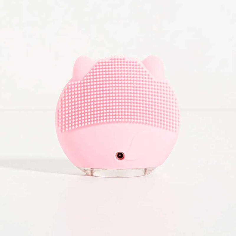 Aparelho de Limpeza Facial Elétrico Rosa Cat Cleaner aberto verso
