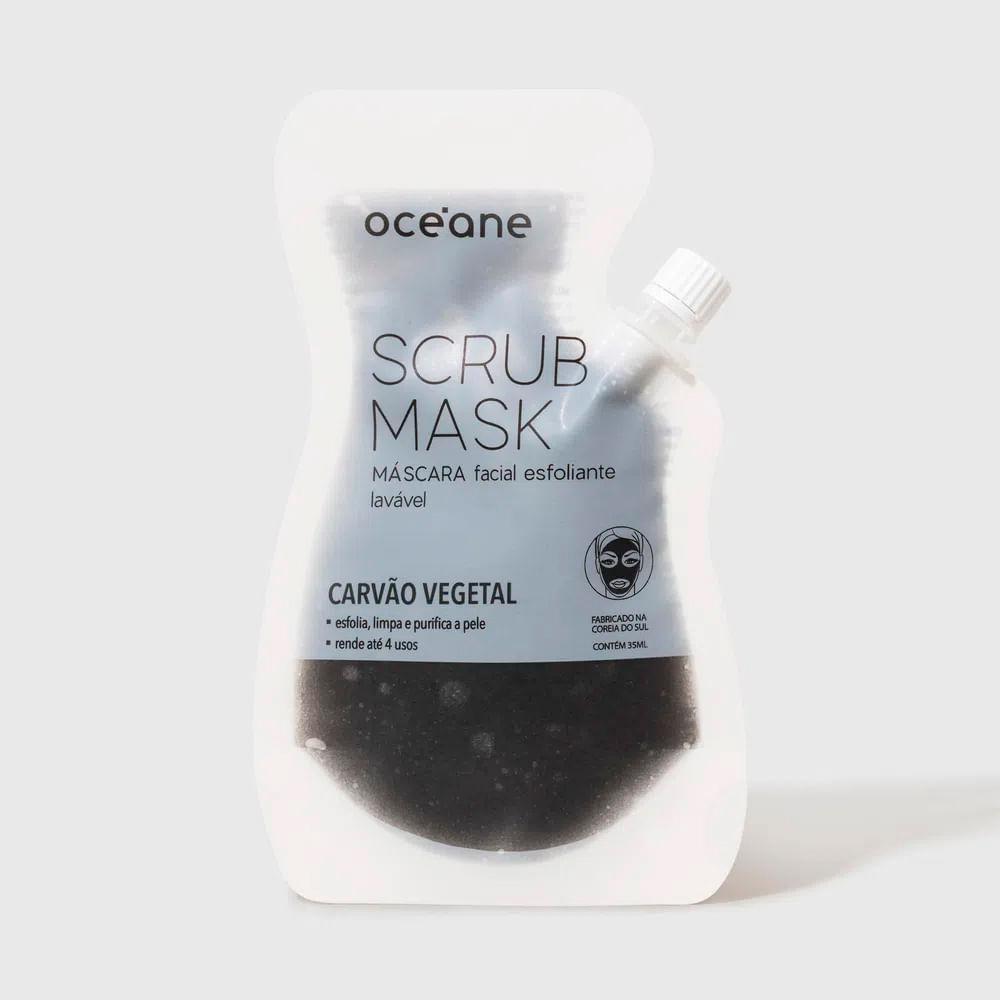 Máscara Facial Esfoliante de Carvão Vegetal  4 Usos  - Scrub Mask 35ml
