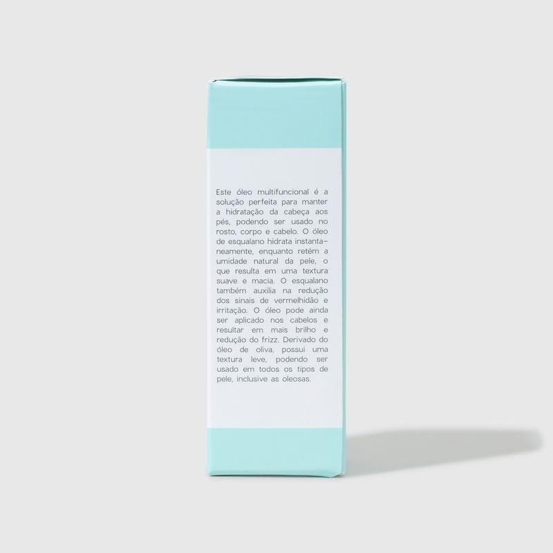 embalagem fechada lateral Óleo Hidratante de Esqualano Squalane Oil 30ml