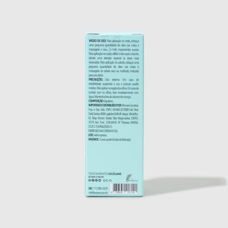 embalagem fechada verso Óleo Hidratante de Esqualano Squalane Oil 30ml