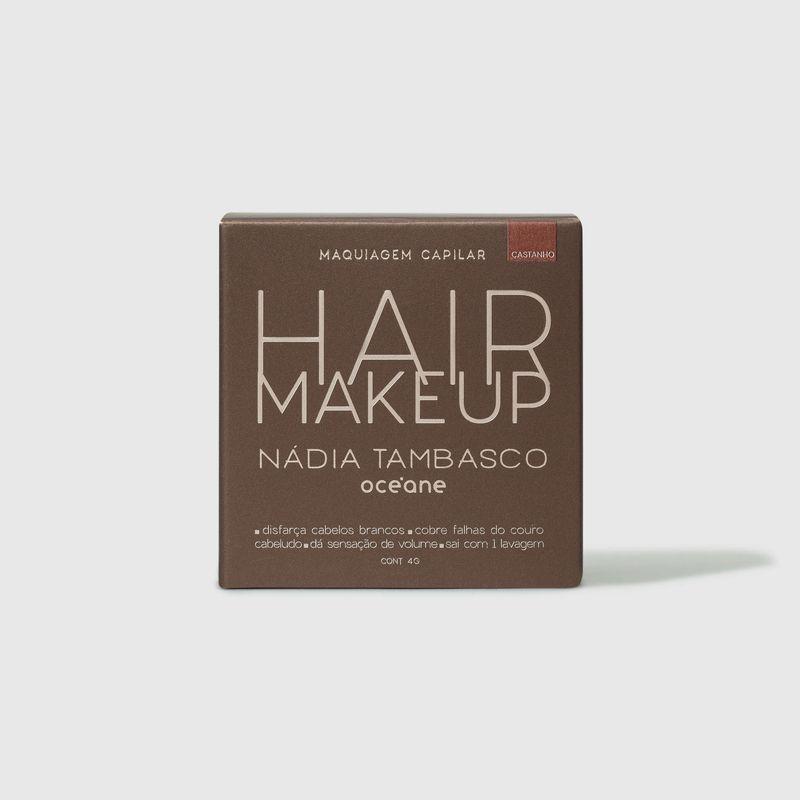 embalagem fechada frente Maquiagem Capilar Castanho Hair Makeup Nádia Tambasco 4g