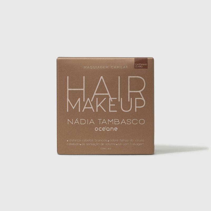 embalagem fechada frente Maquiagem Capilar Castanho claro Hair Makeup Nádia Tambasco 4g