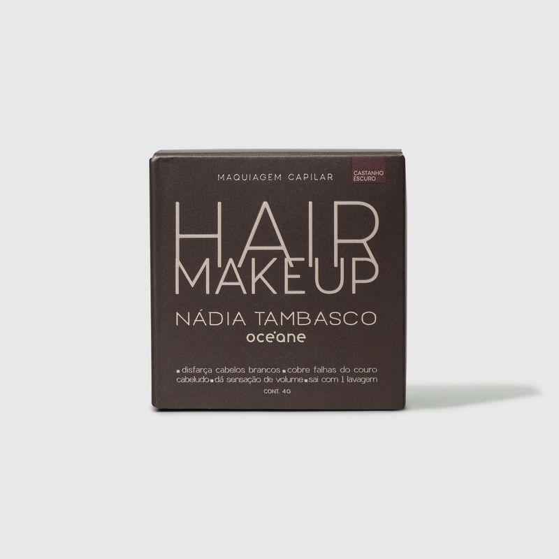 embalagem fechada frente Maquiagem Capilar Castanho escuro Hair Makeup Nádia Tambasco 4g