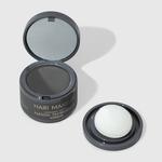 Maquiagem Capilar Preto Hair Makeup Nádia Tambasco 4g tampa aberta frente e esponja ao lado direito