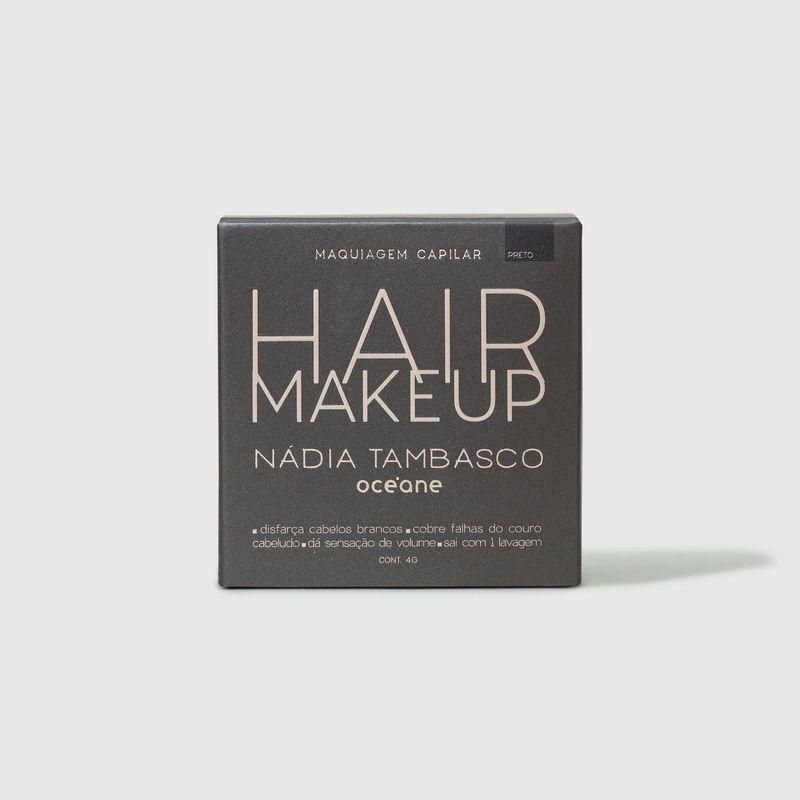 embalagem fechada frente Maquiagem Capilar Preto Hair Makeup Nádia Tambasco 4g