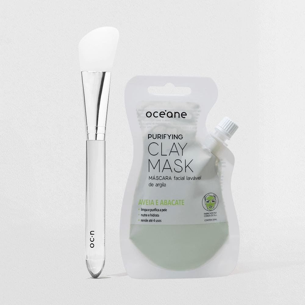 Kit Máscara de Argila + Pincel de Silicone P/ Skincare